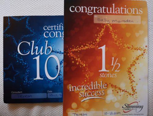Club 10 and 1.5 stone award